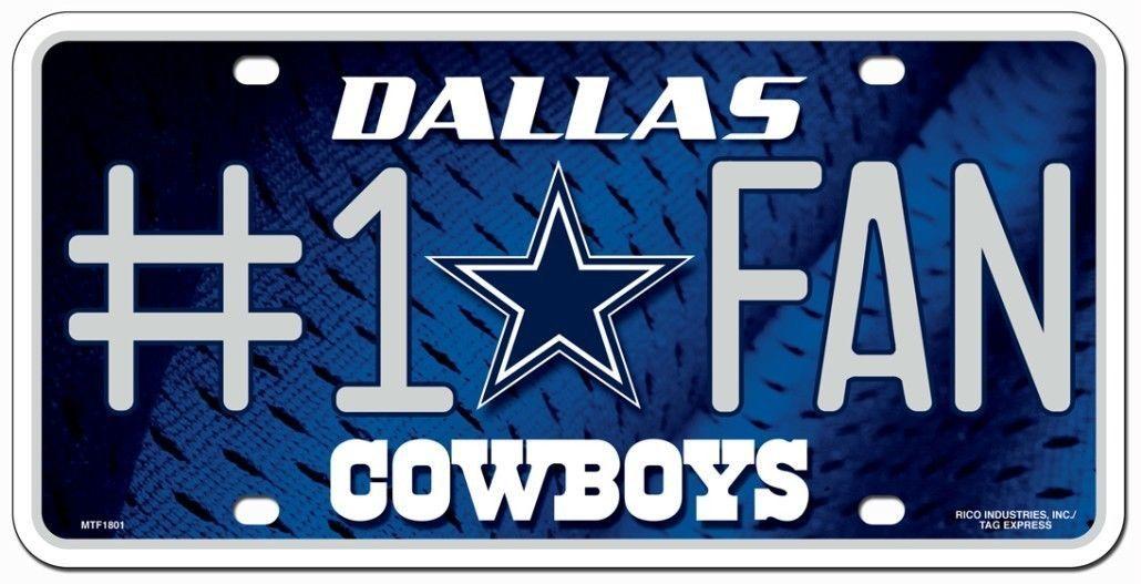 DALLAS COWBOYS #1 FAN CAR AUTO METAL LICENSE PLATE TAG NFL FOOTBALL