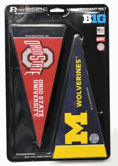 *NEW* BIG 10 CONFERENCE FELT TEAM MINI PENNANT SET & BIG 10 CONFERENCE PENNANT