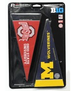 *NEW* BIG 10 CONFERENCE FELT TEAM MINI PENNANT SET & BIG 10 CONFERENCE P... - $14.86