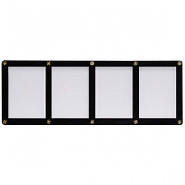 FOUR TRADING CARD BLACK FRAME SCREWDOWN ULTRA CLEAR HOLDER by ULTRA PRO