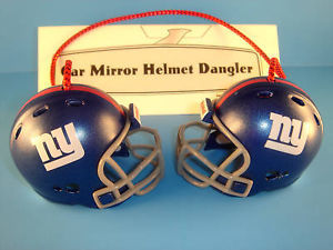 NEW YORK GIANTS CAR MIRROR NFL FOOTBALL HELMET DANGLER - HANG FROM ANYTHING!