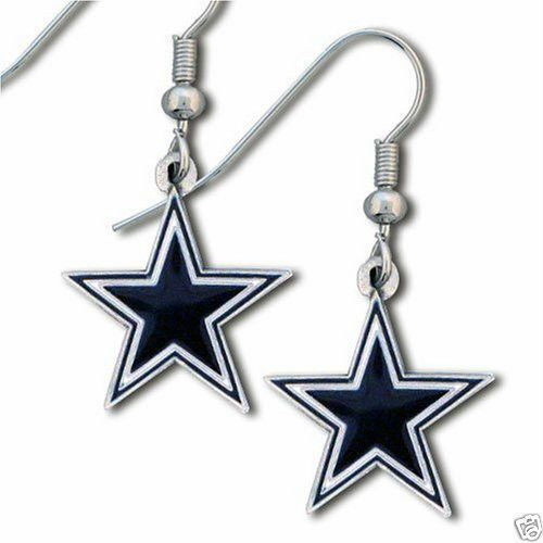 DALLAS COWBOYS PAIR OF DANGLE EARRINGS TEAM LOGO PARTY TAILGATE NFL FOOTBALL