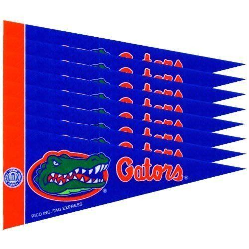 FLORIDA GATORS 8 PIECE MINI PENNANTS SET PACK of FELT TEAM LOGO & COLORS