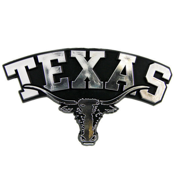 TEXAS LONGHORNS CAR AUTO 3-D CHROME SILVER TEAM LOGO EMBLEM