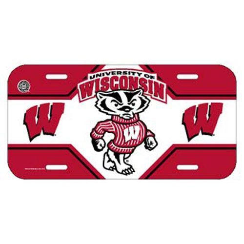CAR/AUTO TEAM LOGO LICENSE PLATE WISCONSIN BADGERS