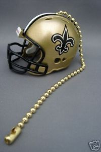 LIGHT/FAN PULL & CHAIN NEW ORLEANS SAINTS NFL FOOTBALL