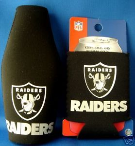 BEER/SODA BOTTLE & CAN KOOZIE HOLDER OAKLAND RAIDERS
