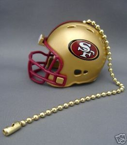 SAN FRANCISCO 49ERS FOOTBALL HELMET CEILING LIGHT FAN PULL & CHAIN NFL FOOTBALL
