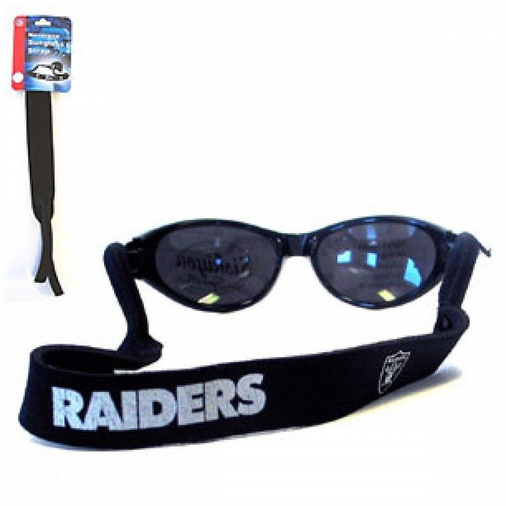 OAKLAND RAIDERS CROAKIES SUNGLASSES EYEGLASS STRAP NFL FOOTBALL