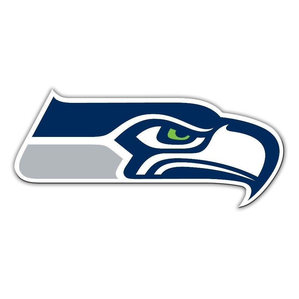 "SEATTLE SEAHAWKS *BIG* 12"" MAGNET for CAR AUTO FRIDGE METAL NFL FOOTBALL"