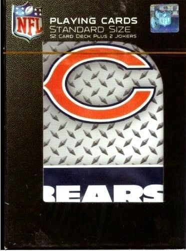CHICAGO BEARS 52 PLAYING CARDS DECK POKER  NFL FOOTBALL