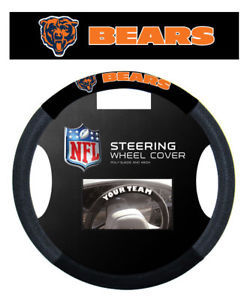 CHICAGO BEARS NFL SUEDE MESH CAR STEERING WHEEL COVER