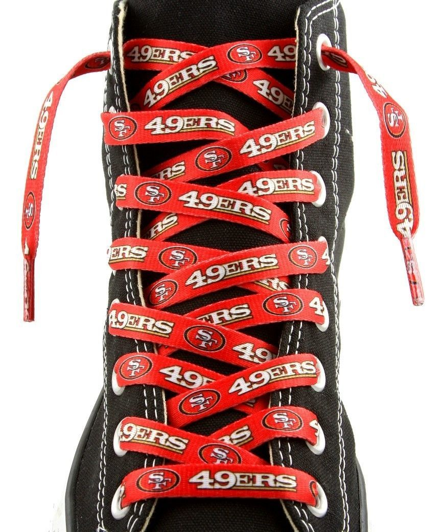 "SAN FRANCISCO 49ERS TEAM SHOE LACES 54"" *LACEUPS* GAME DAY PARTY NFL FOOTBALL"