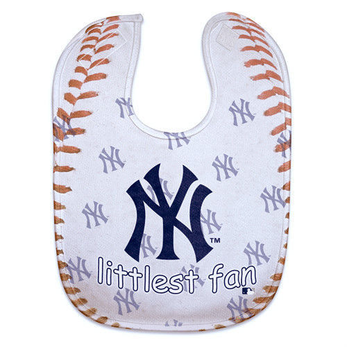 NEW YORK YANKEES MESH BABY BIB VELCRO CLOSURE TEAM COLORS & LOGO MLB BASEBALL