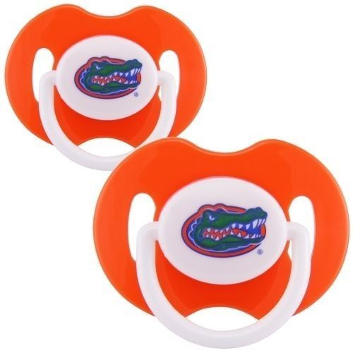 FLORIDA GATORS 2-PACK BABY INFANT PACIFIER SET NCAA