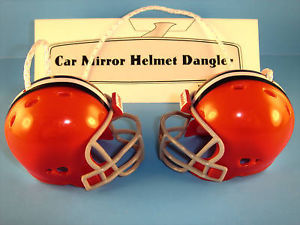 CLEVELAND BROWNS CAR MIRROR NFL FOOTBALL HELMET DANGLER - HANG FROM ANYTHING!