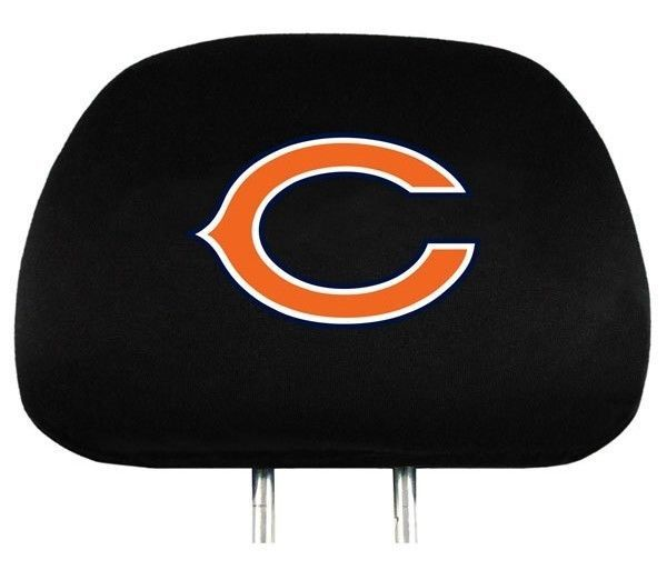 CHICAGO BEARS CAR AUTO 2 TEAM HEADREST COVERS NFL FOOTBALL