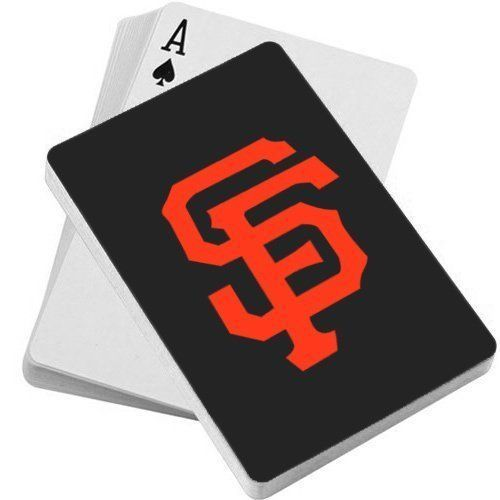 SAN FRANCISCO GIANTS TEAM LOGO POKER PLAYING CARDS DECK MLB BASEBALL