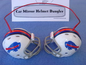 BUFFALO BILLS CAR MIRROR NFL FOOTBALL HELMET DANGLER - HANG FROM ANYTHING!