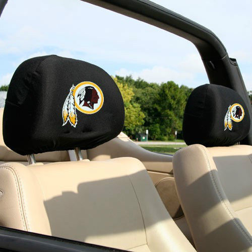 WASHINGTON REDSKINS CAR AUTO 2 TEAM HEADREST COVERS NFL FOOTBALL