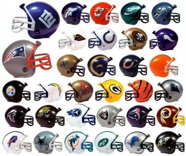 FREE SHIP NFL 32 TEAM (NEW LOGO) MINI MICRO FOOTBALL HELMET SET made by RIDDELL