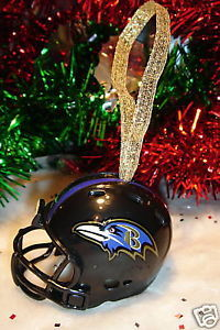 CHRISTMAS BELL FOOTBALL ORNAMENT BALTIMORE RAVENS