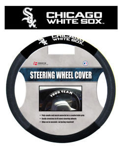 CHICAGO WHITE SOX MESH SUEDE CAR STEERING WHEEL COVER