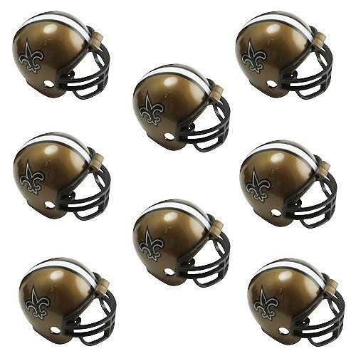 NEW ORLEANS SAINTS 8 PARTY PACK NFL FOOTBALL HELMETS RIDDELL #1