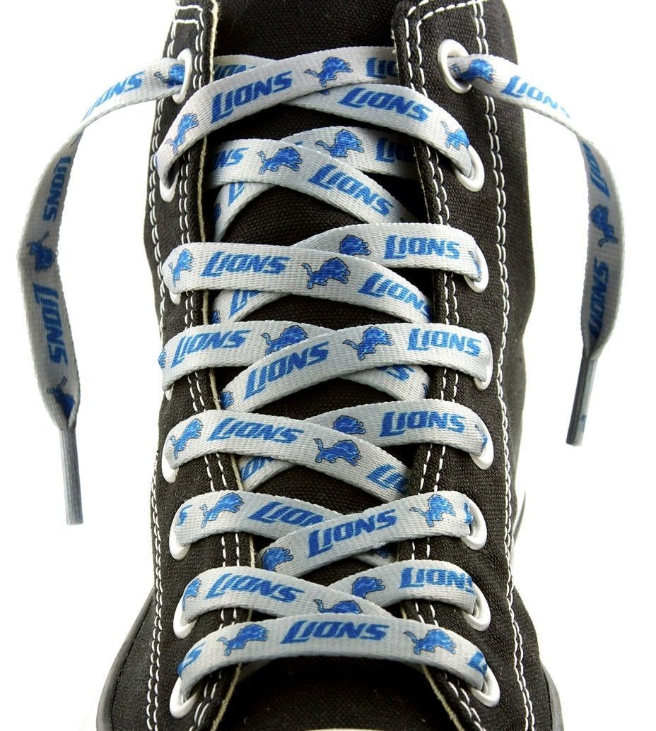 "DETROIT LIONS SHOE LACES 54"" *LACEUPS* GAME DAY PARTY NFL FOOTBALL"