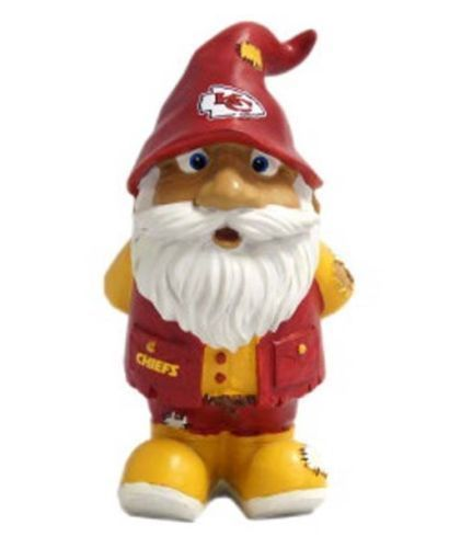 "KANSAS CITY CHIEFS STUMPY GARDEN GNOME 8"" NFL FOOTBALL"