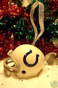 CHRISTMAS BELL FOOTBALL ORNAMENT INDIANAPOLIS COLTS