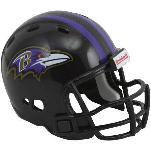 "2 BALTIMORE RAVENS POCKET PRO NFL FOOTBALL HELMET 2"" SIZE  Made By RIDDELL!"