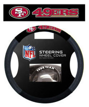 SAN FRANCISCO 49ERS MESH SUEDE CAR STEERING WHEEL COVER NFL FOOTBALL - $17.26