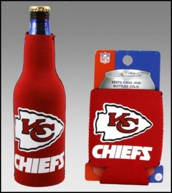 KANSAS CITY CHIEFS BEER SODA CAN KADDY & BOTTLE KOOZIE HOLDER NFL FOOTBALL