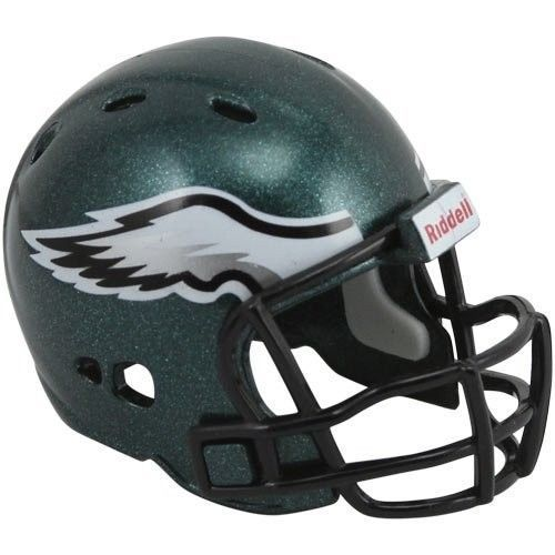 "2 PHILADELPHIA EAGLES POCKET PRO HELMET 2"" SIZE  Made By RIDDELL! NFL FOOTBALL"