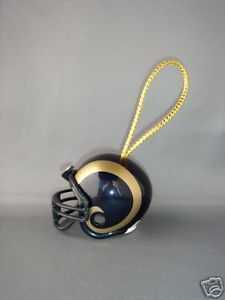 NFL FOOTBALL HELMET CHRISTMAS ORNAMENT ST. LOUIS RAMS