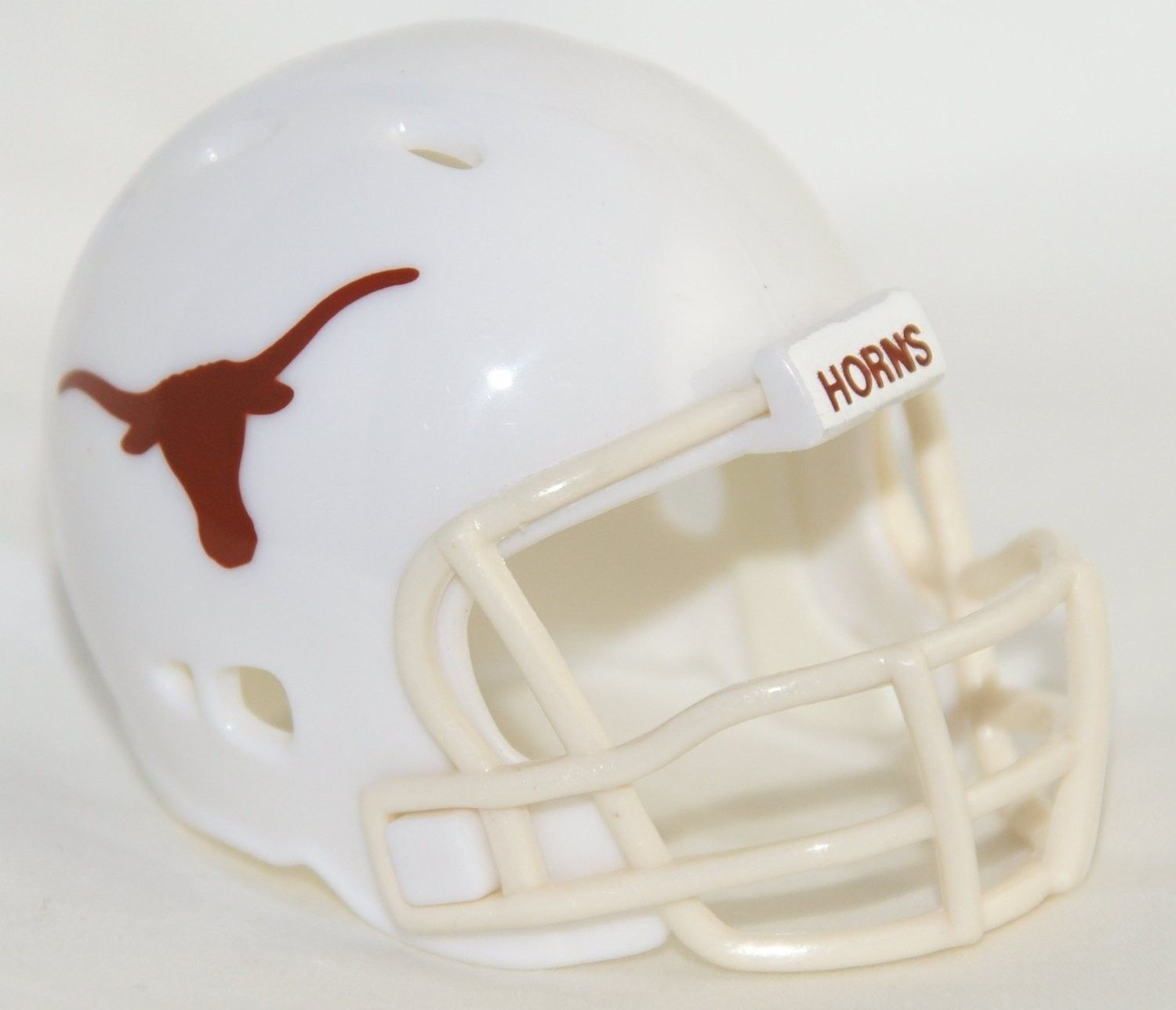 "2 TEXAS LONGHORNS POCKET PRO FOOTBALL HELMET 2"" SIZE  Made By RIDDELL!"