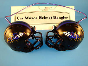 BALTIMORE RAVENS CAR MIRROR NFL FOOTBALL HELMET DANGLER - HANG FROM ANYTHING!