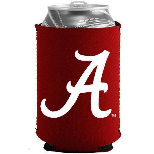 ALABAMA CRIMSON TIDE BEER SODA WATER CAN BOTTLE KOOZIE KADDY HOLDER NCAA