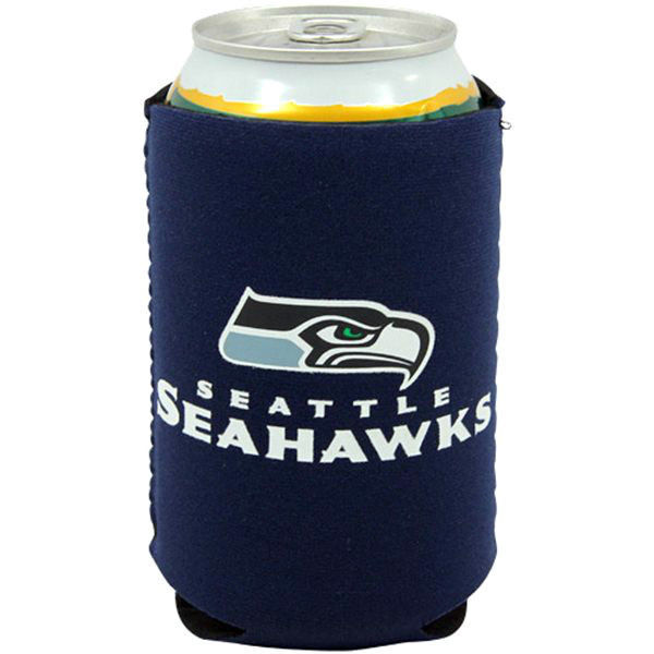 FREE SHIPPING SEATTLE SEAHAWKS BEER SODA WATER CAN BOTTLE KOOZIE KADDY HOLDER