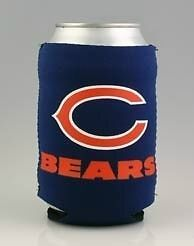 BEER/SODA CAN KOOZIE HOLDER CHICAGO BEARS NFL FOOTBALL