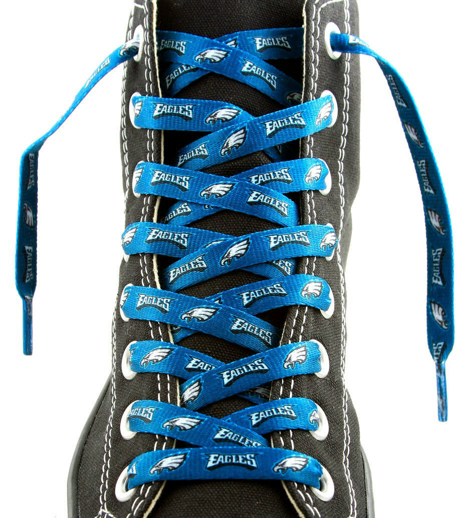 "PHILADELPHIA EAGLES TEAM SHOE LACES 54"" *LACEUPS* GAME DAY PARTY NFL FOOTBALL"