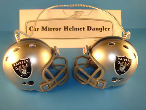 OAKLAND RAIDERS CAR/HOUSE NFL FOOTBALL HELMET KNOCKERS-Hang from Anything!