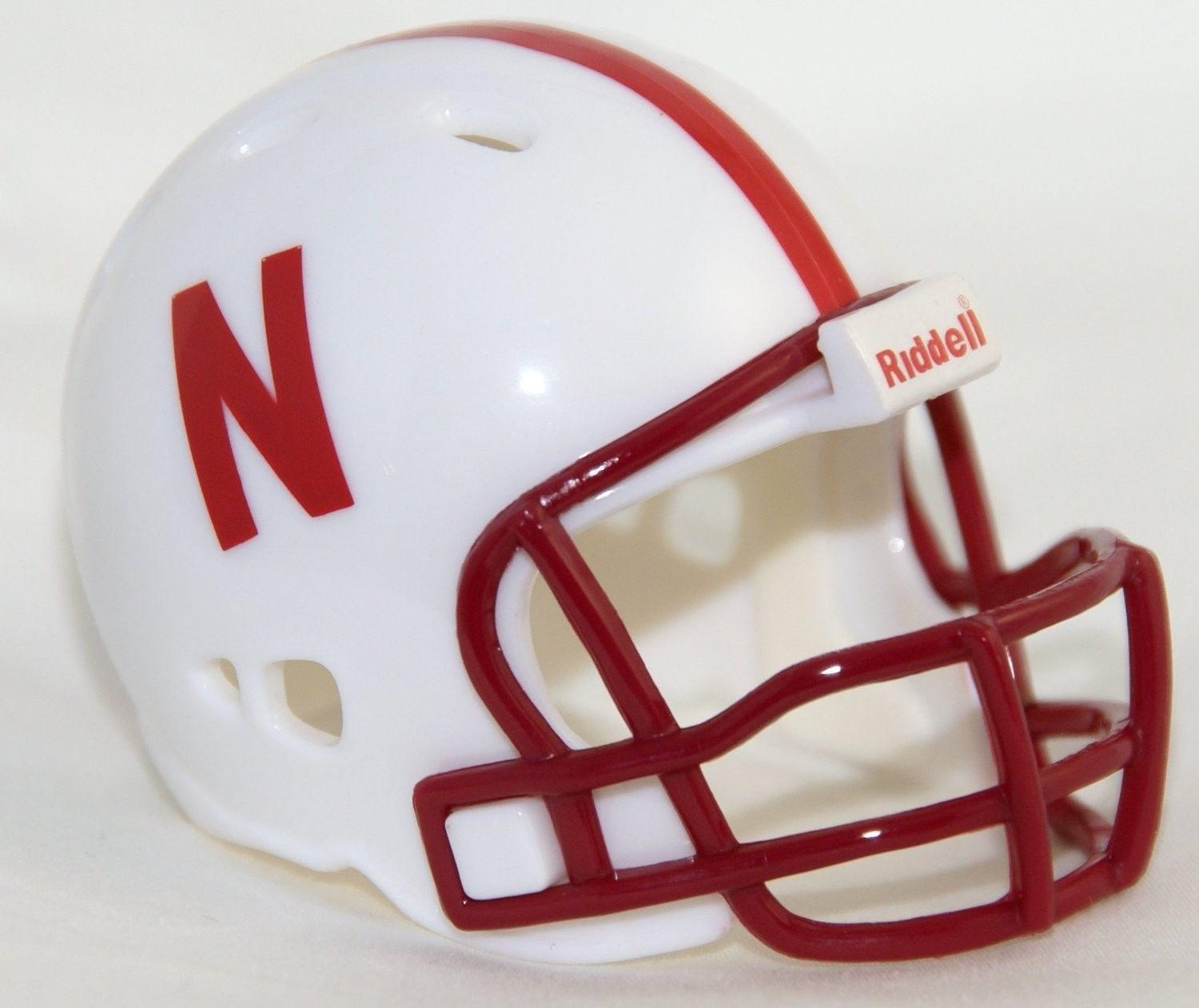 "NEBRASKA HUSKERS POCKET PRO FOOTBALL HELMET 2"" SIZE  Made By RIDDELL!"