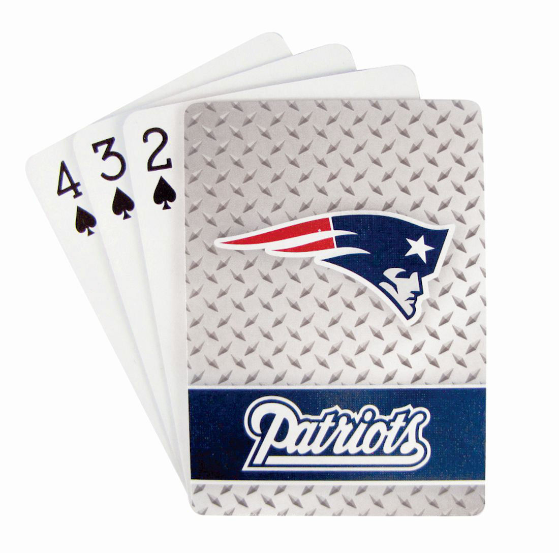 NEW ENGLAND PATRIOTS 52 PLAYING CARDS DECK DIAMOND PLATE POKER  NFL FOOTBALL