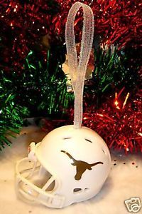 CHRISTMAS BELL FOOTBALL HELMET ORNAMENT TEXAS LONGHORNS