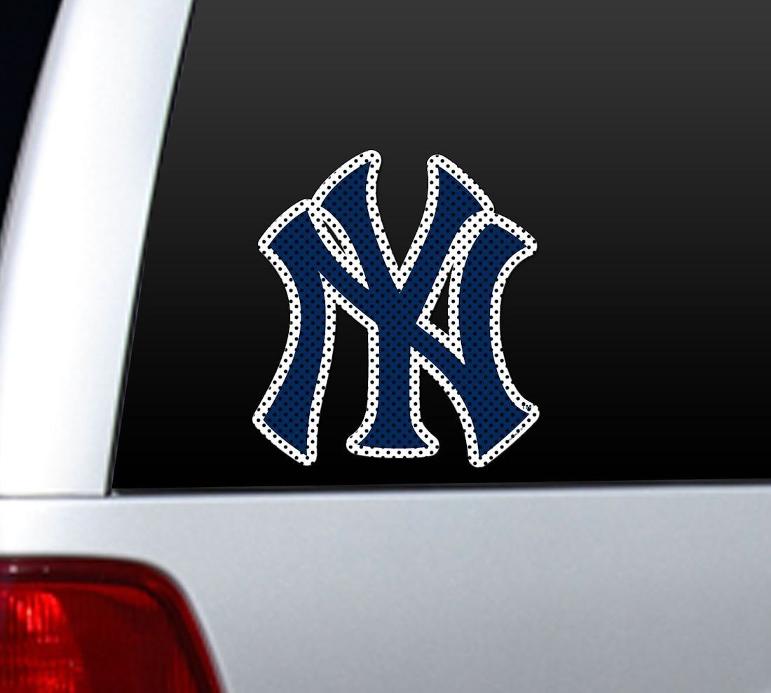"*BIG* 12"" NEW YORK YANKEES CAR HOUSE PERFORATED WINDOW FILM DECAL MLB BASEBALL"