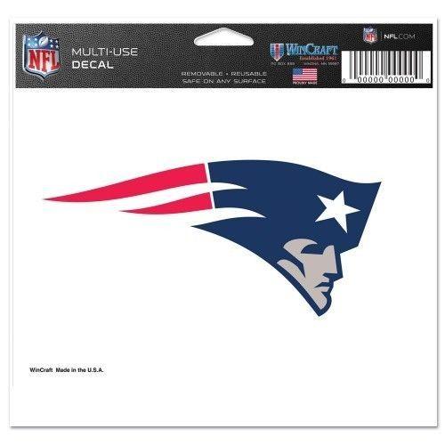 "NEW ENGLAND PATRIOTS ULTRA DECAL 5""X6"" CLEAR WINDOW FILM NFL FOOTBALL"