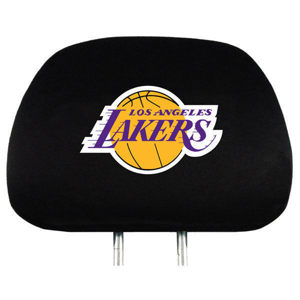 LOS ANGELES LAKERS CAR/AUTO 2 TEAM HEADREST COVERS NBA BASKETBALL
