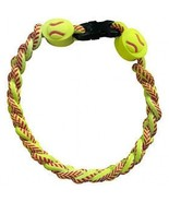 SOFTBALL TITANIUM IONIC BRAIDED WRISTBAND BRACELET - $14.23